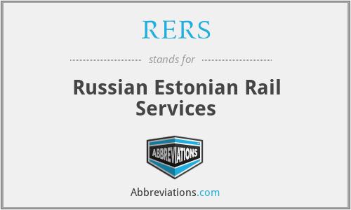 RERS - Russian Estonian Rail Services