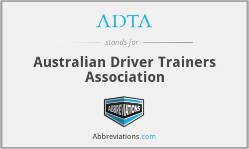 ADTA - Australian Driver Trainers Association