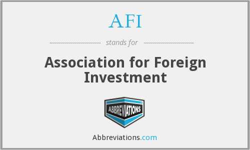What Is The Abbreviation For Association Foreign Investment