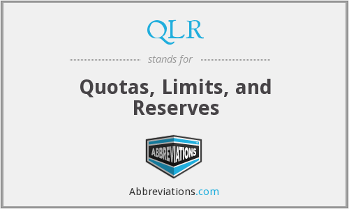 QLR - Quotas, Limits, and Reserves