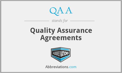 QAA - Quality Assurance Agreements