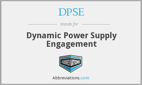 What does DPSE stand for?