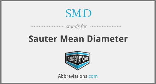 SMD - Sauter Mean Diameter