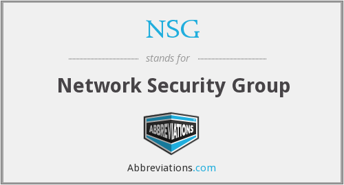 NSG - Network Security Group