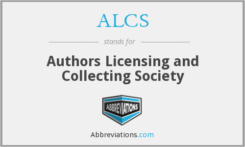 ALCS - Authors Licensing and Collecting Society