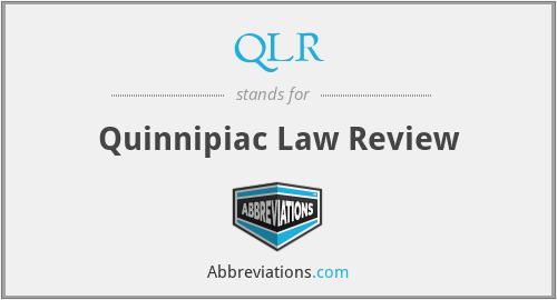 QLR - Quinnipiac Law Review