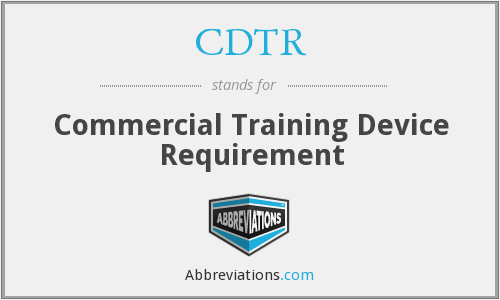 What does CDTR stand for?