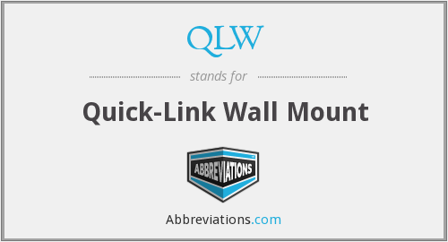 QLW - Quick-Link Wall Mount
