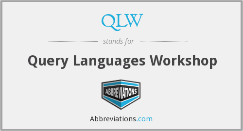 QLW - Query Languages Workshop