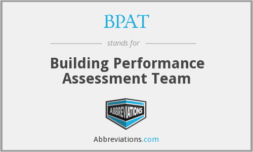 BPAT - Building Performance Assessment Team