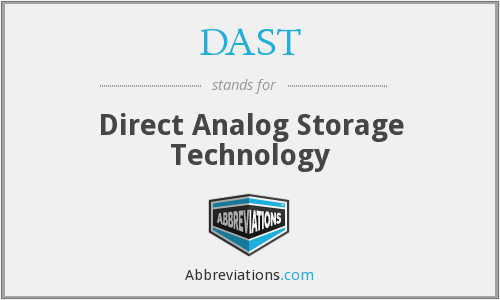 DAST - Direct Analog Storage Technology