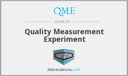 QME - Quality Measurement Experiment