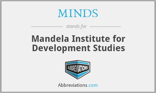MINDS - Mandela Institute for Development Studies