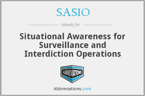 What does SASIO stand for?