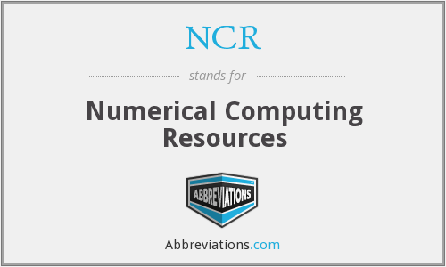 NCR - Numerical Computing Resources