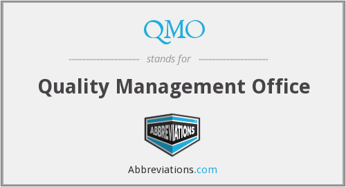 What does QMO stand for?