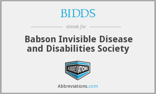 BIDDS - Babson Invisible Disease and Disabilities Society