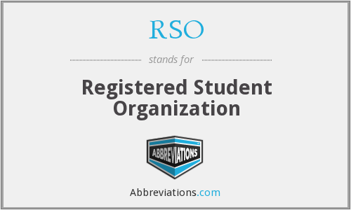 RSO - Registered Student Organization