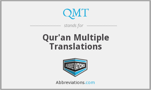 QMT - Qur'an Multiple Translations