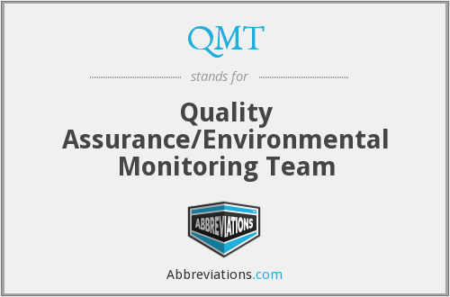 QMT - Quality Assurance/Environmental Monitoring Team