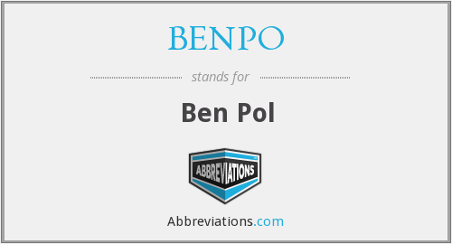 What does BENPO stand for?