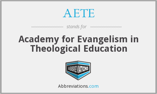 What does AETE stand for?
