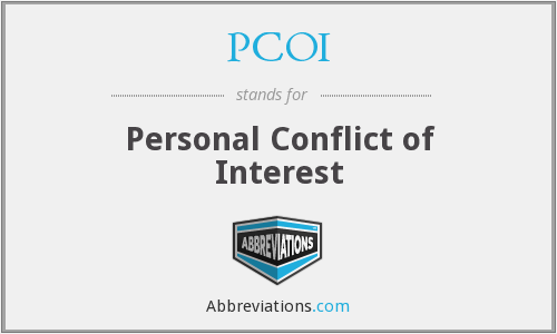 PCOI - Personal Conflict of Interest