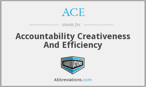 ACE - Accountability Creativeness And Efficiency