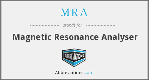 MRA - Magnetic Resonance Analyser