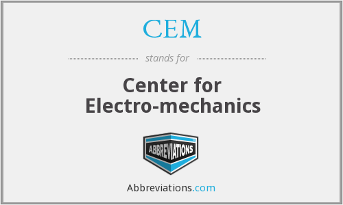 CEM - Center for Electro-mechanics