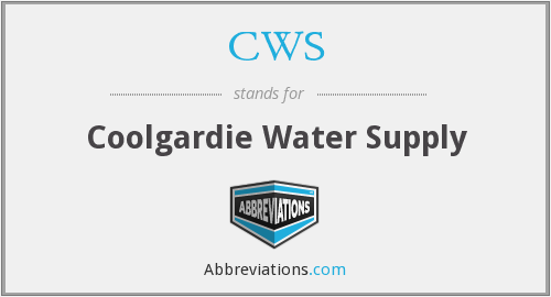 CWS - Coolgardie Water Supply