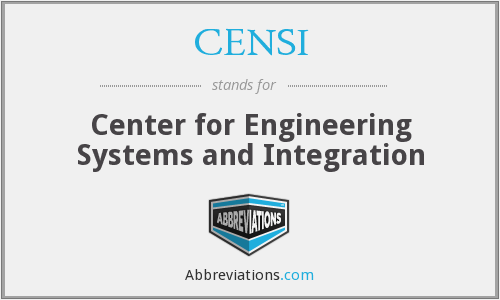 What does CENSI stand for?