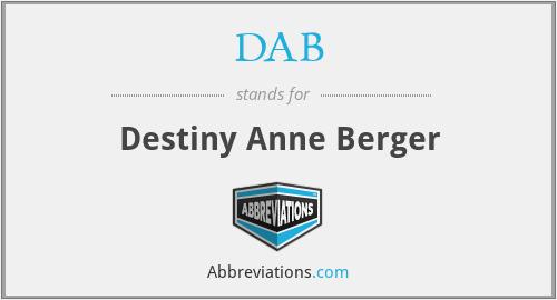 DAB - Destiny Anne Berger