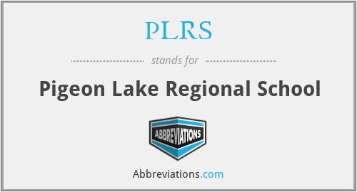 PLRS - Pigeon Lake Regional School