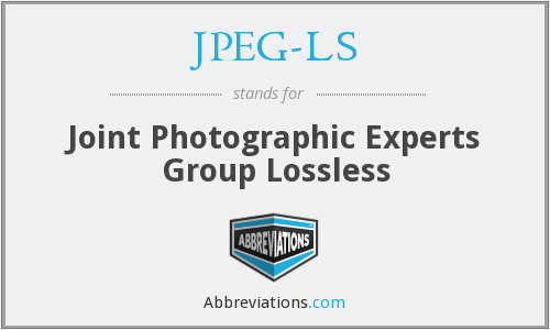 What does JPEG-LS stand for?