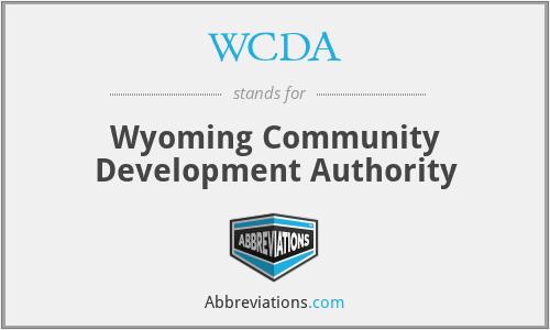WCDA - Wyoming Community Development Authority