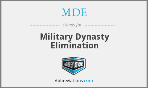 MDE - Military Dynasty Elimination