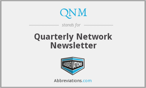 QNM - Quarterly Network Newsletter