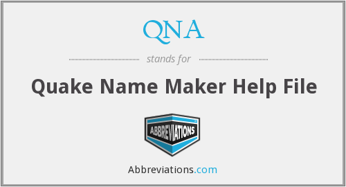 QNA - Quake Name Maker Help File