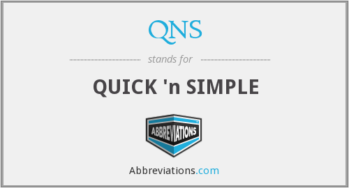 QNS - QUICK 'n SIMPLE