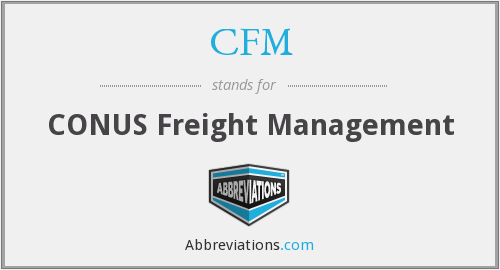CFM - CONUS Freight Management