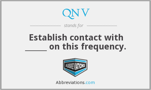 What does QNV stand for?