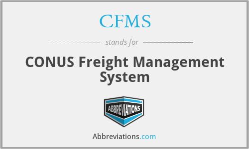 CFMS - CONUS Freight Management System