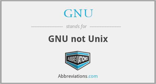 GNU - GNU not Unix