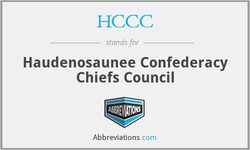 HCCC - Haudenosaunee Confederacy Chiefs Council