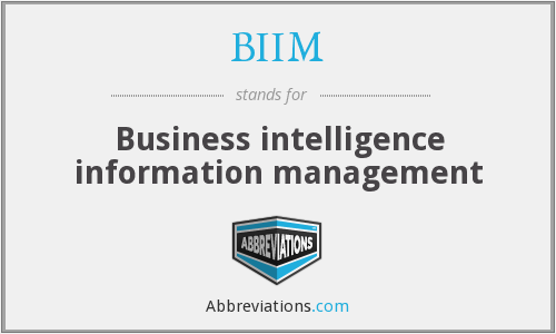 What does BIIM stand for?