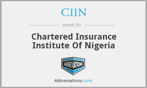 What does CIIN stand for?