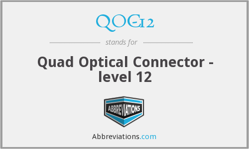 What does QOC-12 stand for?