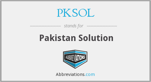 What does PKSOL stand for?