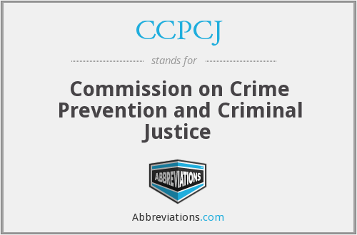 CCPCJ - Commission on Crime Prevention and Criminal Justice
